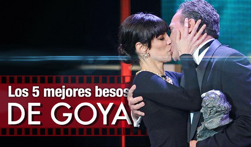 En vídeo: Los ganadores besan al Goya pero... ¿quién les besa a ellos?
