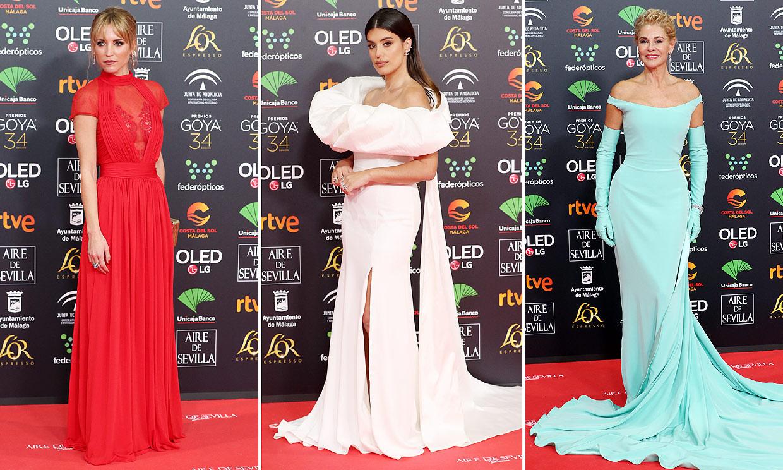 Vestidos de impacto, joyas espectaculares... Las estrellas desfilan por la alfombra roja de los Goya