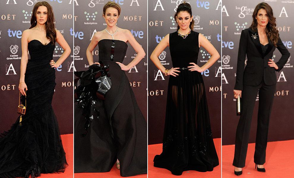 Vestidos negros en los Goya 2014