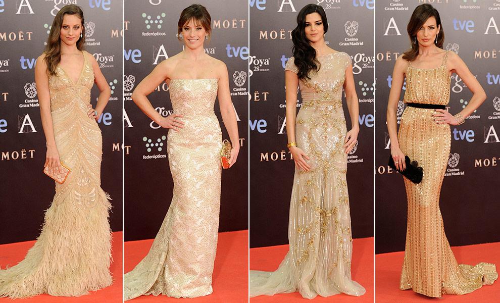 Vestidos dorados en los Goya 2014