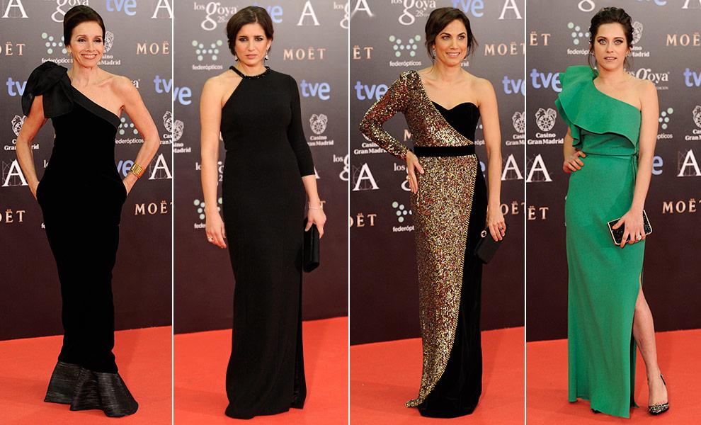 Vestidos asimétricos en los Goya 2014