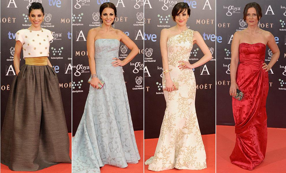 Vestidos con flores en los Goya 2014