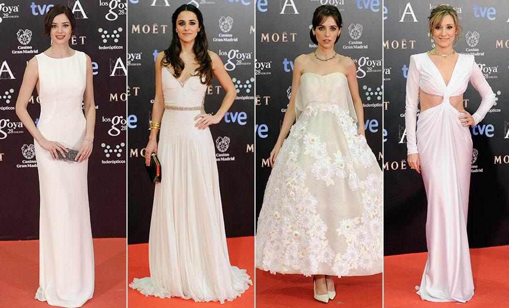 Vestidos blancos con detalles dorados