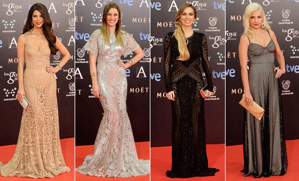 Vestidos de encaje en los Goya 2014