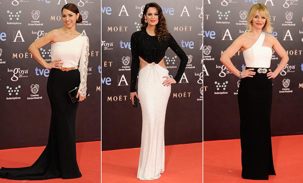 Complementos para vestido blanco y negro