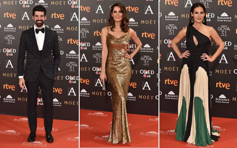las estrellas del cine español brillan en la alfombra roja de los
