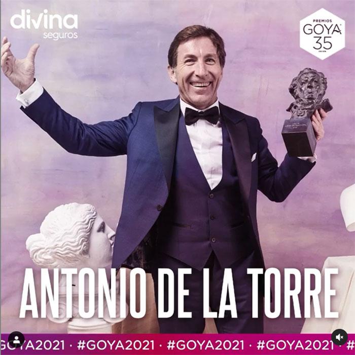 Antonio de la Torre entregará uno de los premios Goya 2021